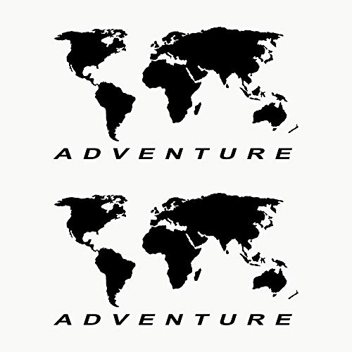 Autodomy Pegatinas Mapa Mundo Globo Terráqueo Adventure Maletas Moto Cofre Trail Off...