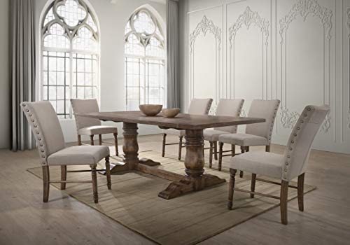 Best Master Furniture Dining Table Only Only, Antique Natural Oak
