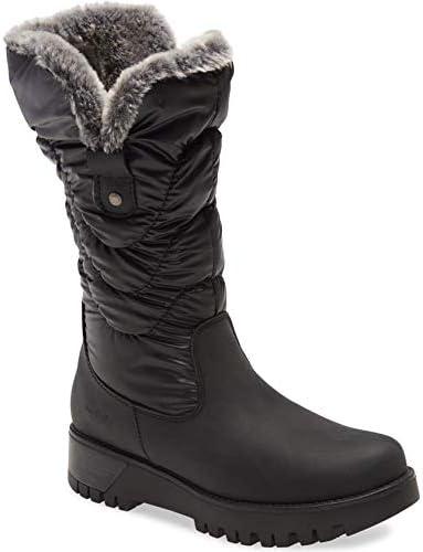 Bos. & Co. Women's Astrid Wool Lined Waterproof Boot Black/Grey
