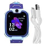CHICIRIS Reloj de teléfono para niños, y Reloj de Seguridad para niños, con Pantalla de Silicona de 1,54 Pulgadas y ABS para niños(Blue)