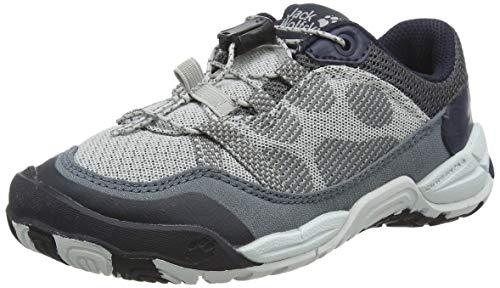 Jack Wolfskin Jungle Gym Low K, Chaussures de Randonnée Basses Mixte Enfant, Gris (Wolf 7682), 34 EU