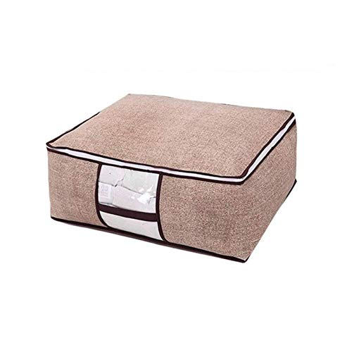 Non-woven Portable Clos opbergtas familie te redden Space Organizer bed onder Closet Storage Box for Kussen Quilt Deken Bedding 8bayfa (Color : Linen M)