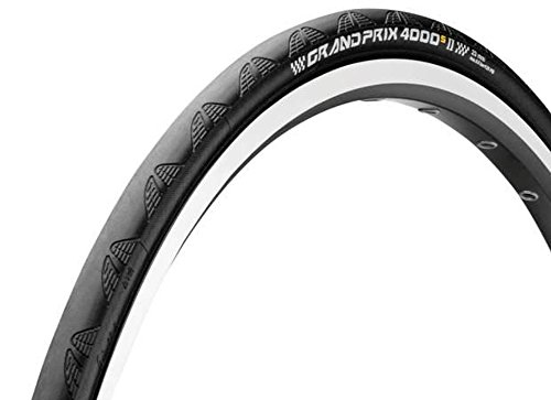 Continental Grand Prix 4000 S II Road Clincher, Black, 700 x 23-Inch