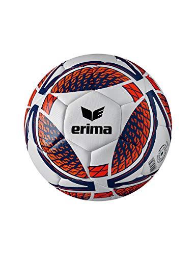 ERIMA 7192005 Erwachsene Senzor Training Fußball, New Navy/Fiery Coral, 4