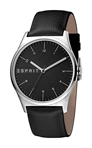 Esprit Herren Analog Quarz Uhr mit Leder Armband ES1G034L0025