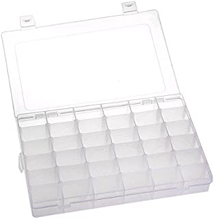Flyme Adjustable 36 Compartment Slot Plastic Craft Storage Box Jewellery Tool Container