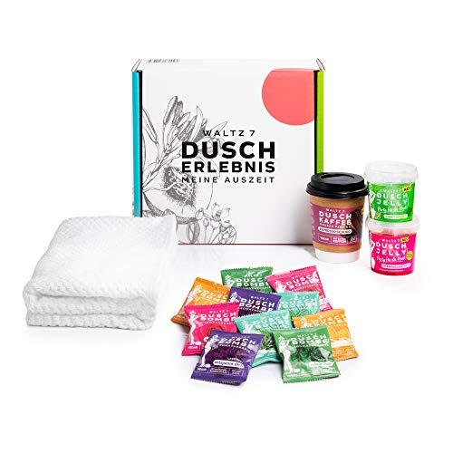 Wellness Geschenkset zur vollen Entspannung in der Dusche, mit Duschbomben Duschkaffee und Duschjelly, personalisierbares Geschenkset für Damen und Herren, von Waltz7