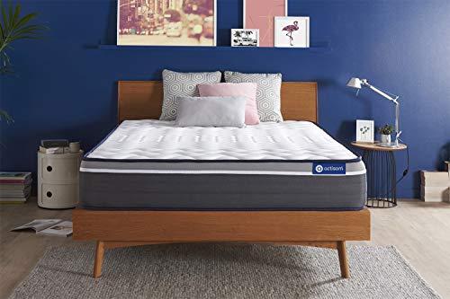 Materasso Actiflex plus 160x210cm, Spessore : 26 cm, Molle insacchettate e memory foam, Molto rigido, 7 zone di comfort