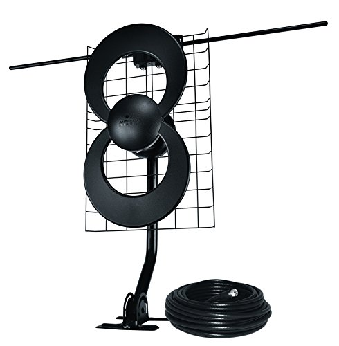 Antennas Direct ClearStream 2V TV Antenna, 60+ Mile Range, UHF/VHF, Multi-directional, Indoor, Attic, Outdoor, Mast w/Pivoting Base/Hardware/ Adjustable Clamp/Sealing Pads, 4K Ready, Black – C2-J30-V. Buy it now for 129.95