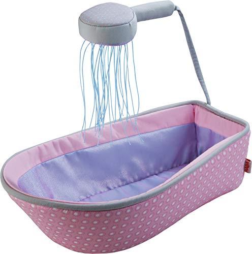 HABA 305073 - Puppen-Badewanne-Badespaß, Babybadewanne mit Duschkopf, Puppenzubehör ab 18 Monaten