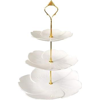 ケーキスタンド プラスチック 3段 お菓子 果物 ケーキ アフタヌーンティー パーティー 誕生日 結婚式 皿 北欧の風 shengo