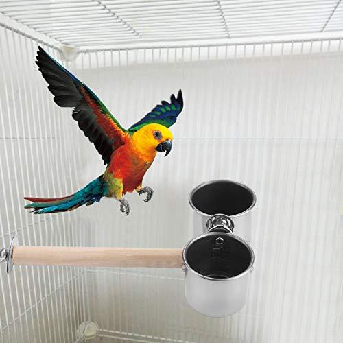 KUIDAMOS Rostbeständige Vogelwasserbecher für Papageienfutterautomat S/L.(Medium)