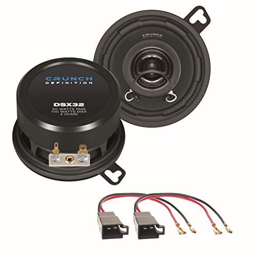 Crunch DSX32 2 Wege Koaxial Lautsprechersystem Armaturenbrett für Polo 86C Golf 2