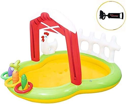 Thole Planschbecken Farmer Play Aufblasbarer Pool Battle Set Garten Mit Pumpe 68.8