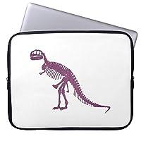 UDDesign恐竜 ティラノサウルス・レックス 骨組 ノート パソコン PC インナーケース 17-17.3 インチ ノートPC スリーブ ケース 撥水 ネオプレーン インナー バッグ 保護 ソフト カバー