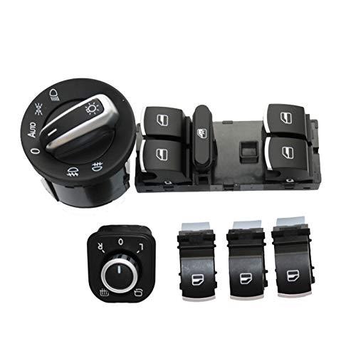 6pcs Ventana Espejo de la Ventana Interruptor/Ajuste para VW/Ajuste para Jetta 6 / Fit for Golf/Fit for GTI 5 6 / Fit para Tiguan/Fit for Passat B6 / Fit para CC 5ND959857 5ND941431B 5ND 941 4
