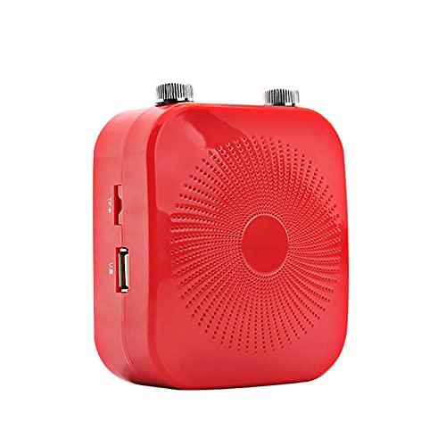BESISOON Amplificador De Voz Amplificador De Voz De 18W con Función De Eco Micrófono con Cable TF Tarjeta Portátil Guía De Visita Megáfono Amplificador De Altavoz Portátil para Presentador