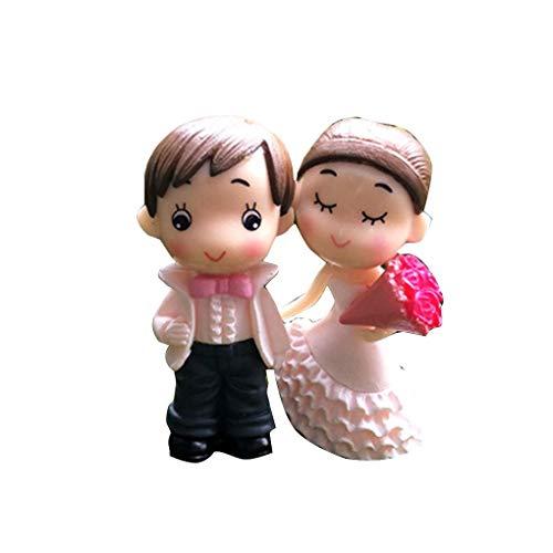 Gankmachine La Novia y el Novio de la Boda muñeca de PVC Pares de la Historieta Figuras Miniaturas decoración de la Torta DIY del Ornamento de Inicio