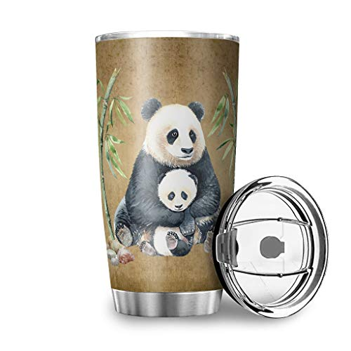 Generic Branded My Daughter Always Remember You Are Brave Panda - Taza de café (acero inoxidable, 600 ml)