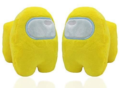 2Pcs Among Us Plüsch - Miotlsy Among Us Plüschtier Spielzeug, Plüschtier Figuren Puppe Heimdekoration für Geschenke, Spiel-Fans(Gelb)