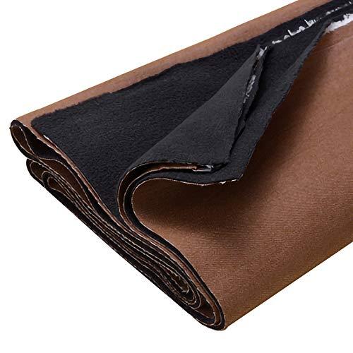 ZXC Tela Vaquera 100% Algodón 1m por Metro Utilizada para Coser Ropa, Jeans Populares, 140 cm De Ancho Coser Cojines, Cortinas Y Accesorios para El Hogar(Color:Marron Oscuro)