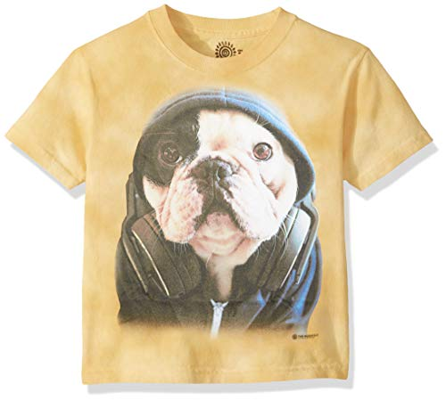The Mountain Unisex-Adult's Dj Manny The Frenchie, Yellow, XL