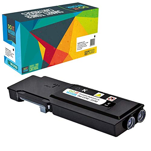 Do it wiser Compatible Toner Cartridge Replacement for Dell C3760 C3760n C3760dn C3765dnf (Black)