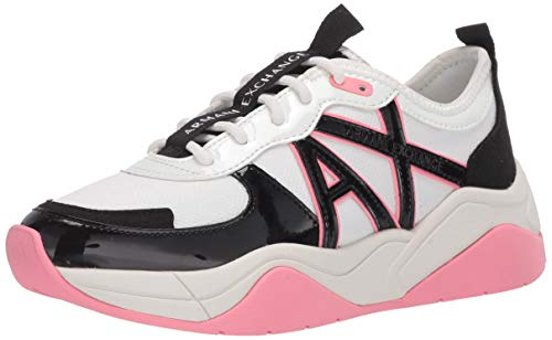Armani Exchange Chunky Sneakers, Zapatillas para Mujer, Multicolor (Martini+Black B669), 37 EU