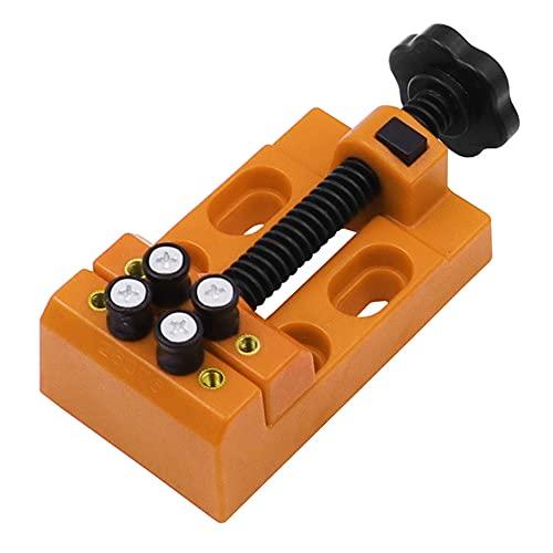 Mini tornillo de banco de 8 agujeros, prensa de taladro, tornillo de banco de tallado, alicates de punta plana, manualidades de escultura DIY, herramienta manual de ajuste de joyería