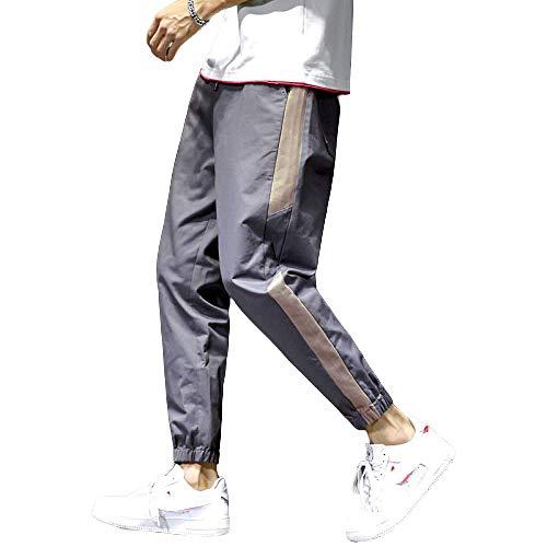 N/ A Pantalon de survêtement pour Hommes Pantalon de survêtement décontracté à Rayures latérales Pantalon de Jogging fuselé Pantalon de survêtement d'entraînement athlétique Confortable