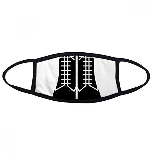 DIYthinker Heren Zwarte Hoge Laarzen Patroon Silhouette Mond Gezicht Anti-stof Masker Anti Koud Warm Wasbaar Katoen Gift