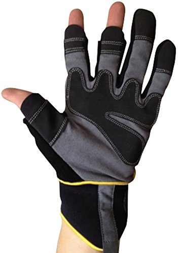 Guantes Sin Dedos para mecánicos de Easy Off Gloves - Tallas 7-11 Disponibles (Medium)
