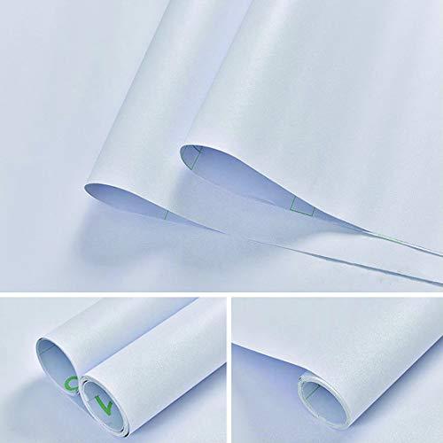 JiaHome 61 * 500cm Impermeable Pegatinas de Pared PVC Autoadhesivo(Blanco), Pegatina para Muebles/Cocina/Baño/Sala/Habitación, a Prueba de Agua de Moho