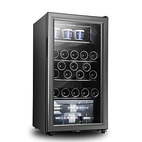 Xiao huang li wijnkoeler wijnkoeler koelkast/24 flessen champagnekast/afmetingen 45 x 44 x 83 cm/vermogen 70 W, spanning 220 V/kinderbeveiliging/zwart