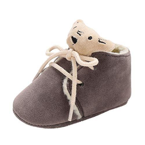 catmoew Schuhe Kinder (0-18M) Baby Winterstiefel Bär Spitze Mädchen Stiefel Junge Stiefel plüsch Schuhe für Kinder Weiche untere Schuhe Kleinkindschuhe Baumwollstiefel