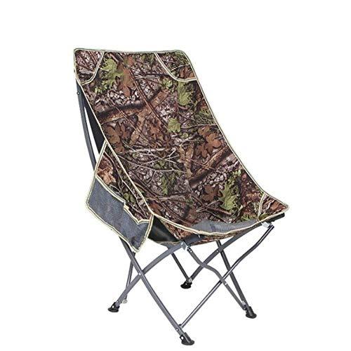 ch-AIR Chaise Pliante Portable Dos Chaise De Pêche Tabouret Loisirs Chaise De Plage Chaise De Pause Déjeuner Chaise De Lune (Color : Camouflage)