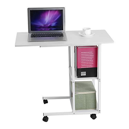 Mesa de cama, para casa, oficina, portátil, con ruedas, para hospital, sobre la cama, sofá, mesa de escritorio con estantes de almacenamiento