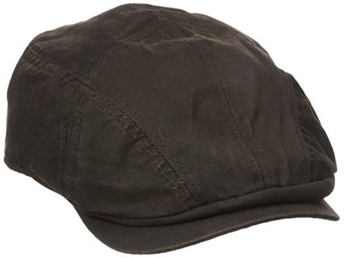 Stetson Men's Weathered Cotton Ivy Cap, Brown, X-Large