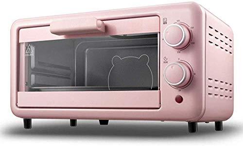 Koken Professionele mini-oven, 11 liter, elektrisch multifunctioneel fornuis, instelbare temperatuurregeling, timer, 800 W met bakplaat draadframe