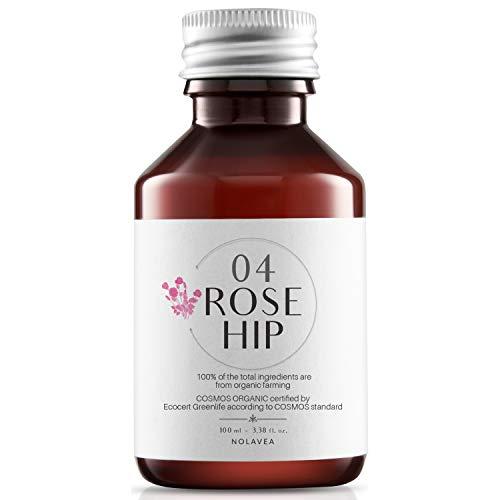 Huile de Rose Musquée Bio 100% Vegetale - 100 ml - Huile Bio Pressée à Froid et Vierge - Traitement Visage, Corps, Anti-Age, Assainissant, Réparateur - Hydrate, Nourrit et Répare