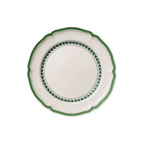 Villeroy & Boch French Garden Green Line Speiseteller, 26 cm, Premium Porzellan, Weiß/Grün