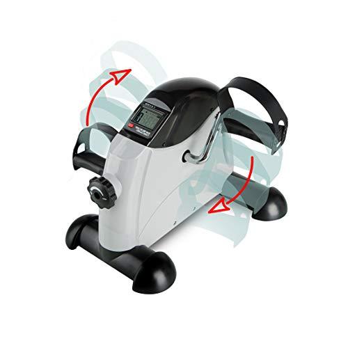 zoomyo Peak Power Arm-und Beintrainer Mini Bike Profi, kompaktes Fitness Fahrrad mit Transportgriff und Trainingscomputer, bedienbar mit Füßen oder Händen(Profi)