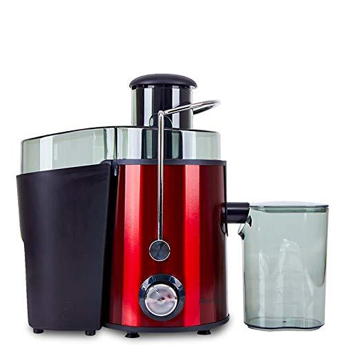 DHE Exprimidor Multifuncional, máquina de Fruta del hogar, máquina de separación del Jugo Vegetal, de Color Rojo, la protección de la Seguridad y el Interruptor de Mando
