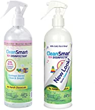 CleanSmart Toy Disinfectant Spray Kills 99.9% of Viruses and Bacteria, Rinse Free, 16 oz Bottle, (Pack of 2)
