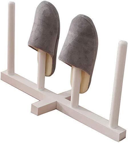 Zapatero Zapatero apilable de Madera Maciza para estantes de Zapatos Marco de Dormitorio para baño Entrada de Zapatos - Tiene Capacidad para 2 Pares de Zapatillas de Interior y Exterior (Col
