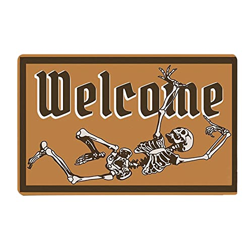ZSWWang Halloween Doormat Home Decor Area Rugs, Non Slip Welcome Mats for Front Door, Washable Bathroom Entrance Rugs Durable Indoor Carpets Party Decorations Supplies, 60x40cm (T)