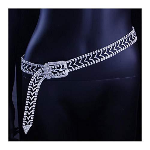 Cadenas de Cintura de Cristal Mujeres Diamante Cinturones Regalo, Crystal Rhinestone Bling Cadena de Cintura Cadena Sexy Chica Boda/Fiesta/Club