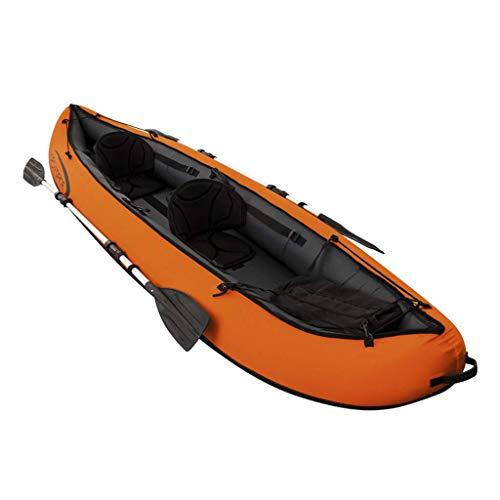 YLJYJ Schlauchboot Gummiruderboot Doppelkanu Zwei-Personen-Boot, Schlauchboot
