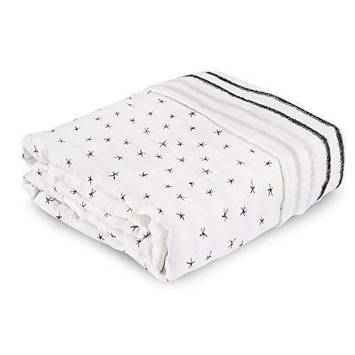 aden + anais Silky Soft Oversized Muslin Blanket; Midnight