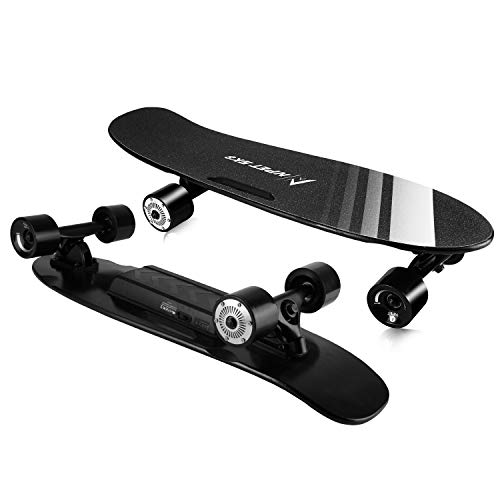 NPET 27.5x8 Electric Skateboard 12mph Max Speed 10miles Range, Portable Electric Skateboard for Beginners with Wireless Remote Control, Teenagers